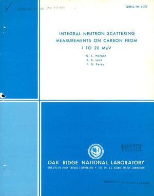 Primary view of object titled 'Integral neutron scattering measurements on carbon from 1 to 20 MeV.'.