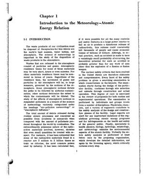 Primary view of object titled 'INTRODUCTION TO THE METEOROLOGY--ATOMIC ENERGY RELATION.'.