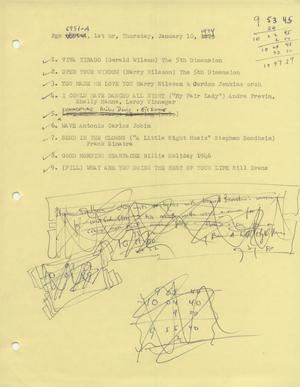 Primary view of object titled 'Music USA playlists, 1974'.