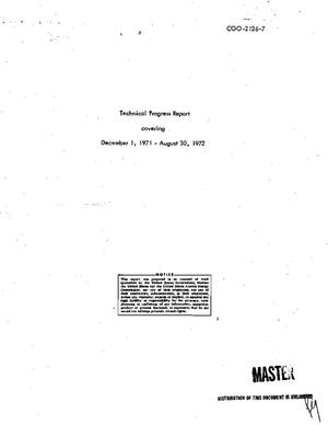 Primary view of object titled '[STUDY OF VIBRATIONAL EXCITATIONS IN AMORPHOUS AND CRYSTALLINE SOLIDS]. Technical Progress Report, December 1, 1971--August 30, 1972.'.