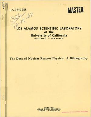 Primary view of object titled 'The Data of Nuclear Reactor Physics. A Bibliography.'.