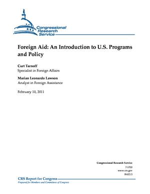 Foreign Aid: An Introduction to U.S. Programs and Policy