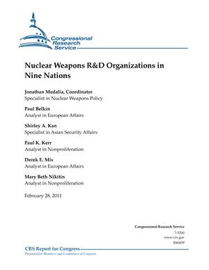 Nuclear Weapons R&D Organizations in Nine Nations