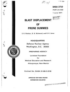 Primary view of object titled 'BLAST DISPLACEMENT OF PRONE DUMMIES.'.