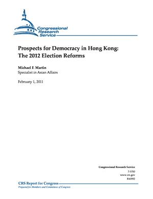 Prospects for Democracy in Hong Kong: The 2012 Election Reforms