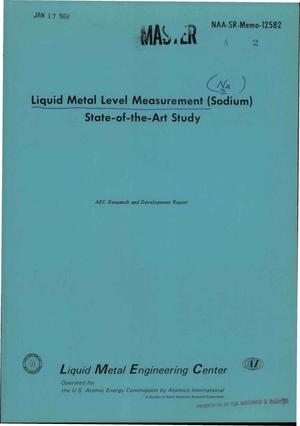 Primary view of object titled 'LIQUID METAL LEVEL MEASUREMENT (SODIUM) STATE-OF-THE-ART-STUDY.'.