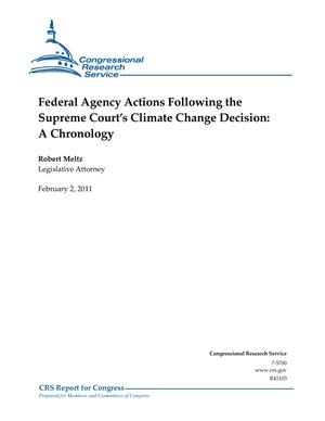 Federal Agency Actions Following the Supreme Court's Climate Change Decision: A Chronology