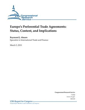 Europe's Preferential Trade Agreements: Status, Content, and Implications