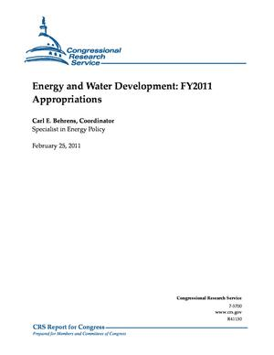 Energy and Water Development: FY2011 Appropriations