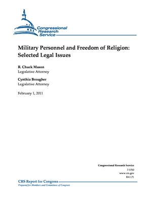 Military Personnel and Freedom of Religion: Selected Legal Issues
