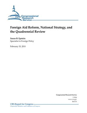 Foreign Aid Reform, National Strategy, and the Quadrennial Review