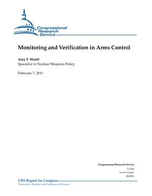 Monitoring and Verification in Arms Control