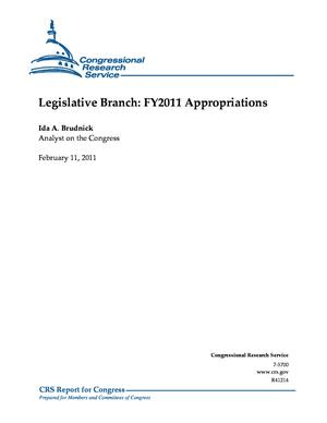 Legislative Branch: FY2011 Appropriations