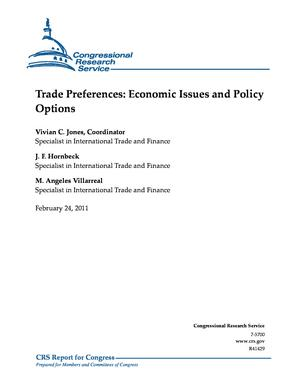Trade Preferences: Economic Issues and Policy Options