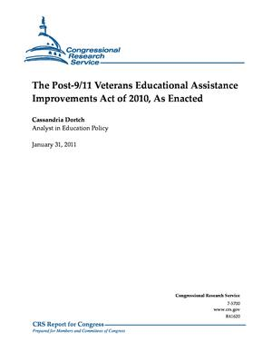 The Post-9/11 Veterans Educational Assistance Improvements Act of 2010, As Enacted