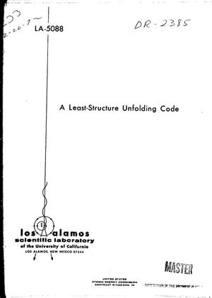 Primary view of object titled 'LEAST-STRUCTURE UNFOLDING CODE.'.