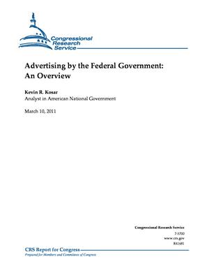 Advertising by the Federal Government: An Overview