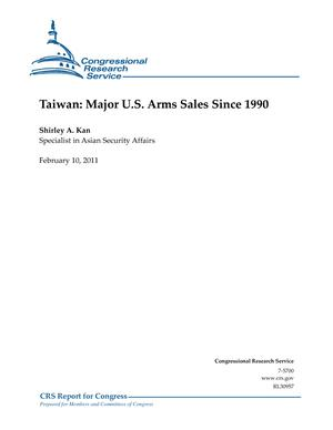 Taiwan: Major U.S. Arms Sales Since 1990