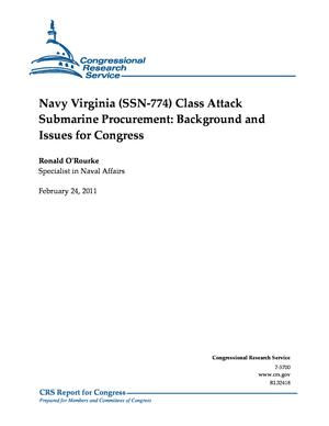 Navy Virginia (SSN-774) Class Attack Submarine Procurement: Background and Issues for Congress