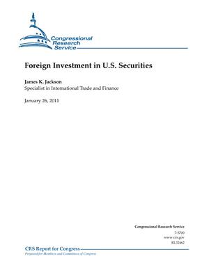 Foreign Investment in U.S. Securities
