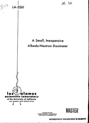 Primary view of object titled 'A small, inexpensive albedo-neutron dosimeter'.