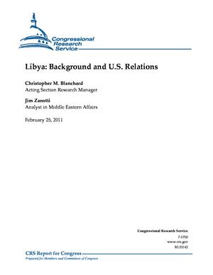 Libya: Background and U.S. Relations