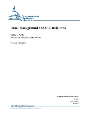 Israel: Background and U.S. Relations