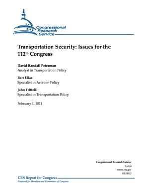 Transportation Security: Issues for the 112th Congress