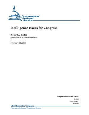Intelligence Issues for Congress