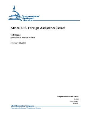 Africa: U.S. Foreign Assistance Issues