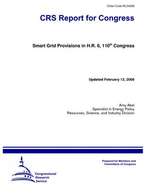 Smart Grid Provisions in H.R. 6, 110th Congress