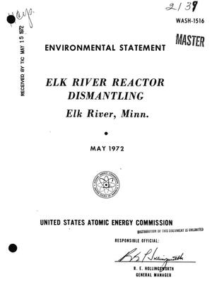 Primary view of object titled 'Elk River Reactor Dismantling, Elk River, Minnesota. Environmental Statement.'.