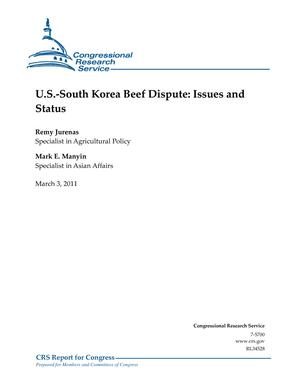 U.S.-South Korea Beef Dispute: Issues and Status