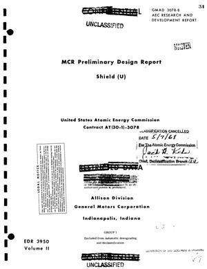 Primary view of object titled 'MCR PRELIMINARY DESIGN REPORT: SHIELD.'.