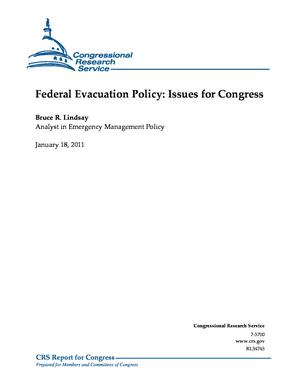 Federal Evacuation Policy: Issues for Congress