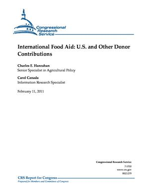 International Food Aid: U.S. and Other Donor Contributions