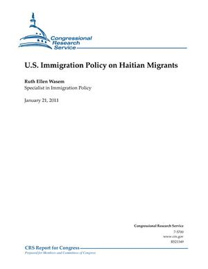 U.S. Immigration Policy on Haitian Migrants