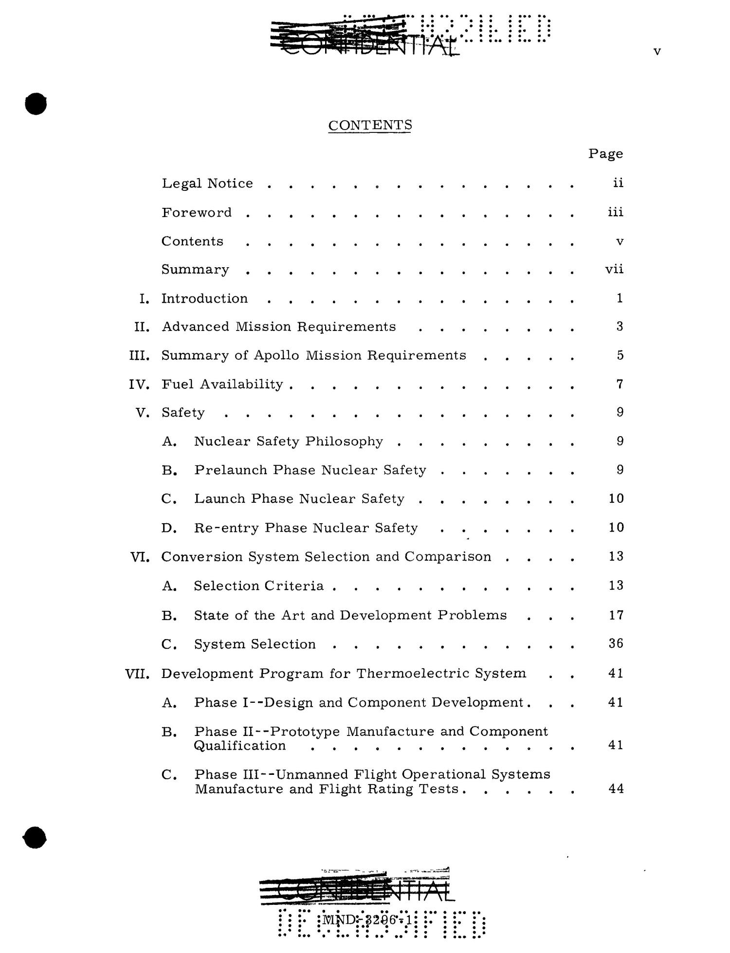 Feasibility of Isotopic Power for Manned Lunar Missions. Volume 1. Summary.                                                                                                      [Sequence #]: 8 of 61