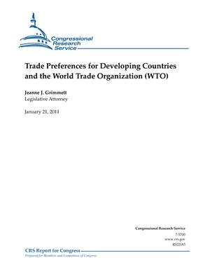 Trade Preferences for Developing Countries and the World Trade Organization (WTO)