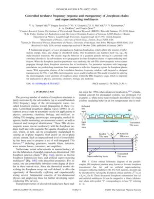 Primary view of object titled 'Controlled terahertz frequency response and transparency of Josephson chains and superconducting multilayers'.