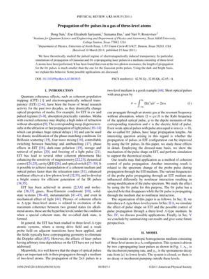 Primary view of object titled 'Propagation of 0π pulses in a gas of three-level atoms'.