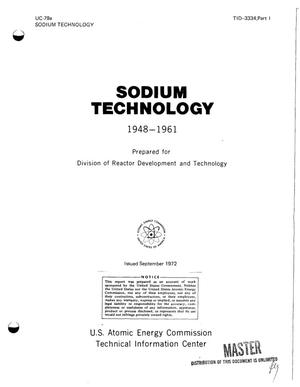 Primary view of object titled 'SODIUM TECHNOLOGY, 1948--1961.'.
