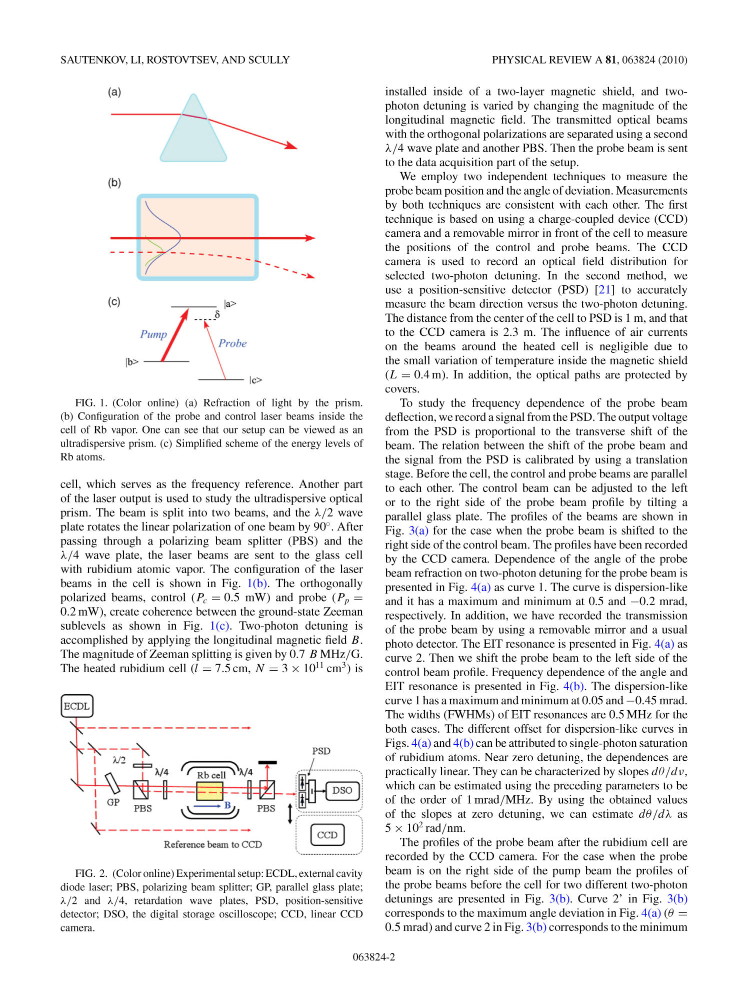 Ultradispersive adaptive prism based on a coherently prepared atomic medium                                                                                                      2