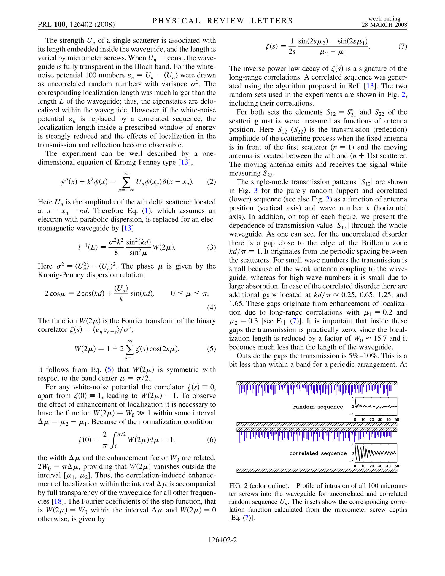 Enhancement of Localization in One-Dimensional Random Potentials with Long-Range Correlations                                                                                                      2