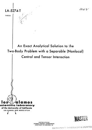 Primary view of Exact analytical solution to the two-body problem with a separable (nonlocal) central and tensor interaction