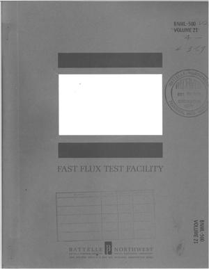 Primary view of object titled 'FAST FLUX TEST FACILITY. CONCEPTUAL FACILITY DESIGN DESCRIPTION FOR STRUCTURES NO. 21.'.
