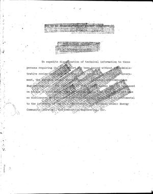 Primary view of object titled 'BURNABLE POISON ADDITIONS TO UO$sub 2$. Progress Report, October 1- December 31, 1965'.