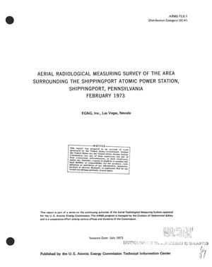 Primary view of object titled 'Aerial radiological measuring survey of the area surrounding the Shippingport Atomic Power Station, Shippingport, Pennsylvania, February 1973'.