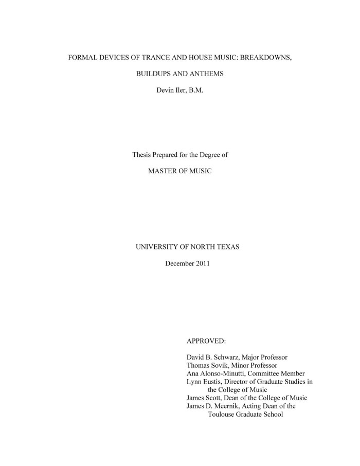 formal title page