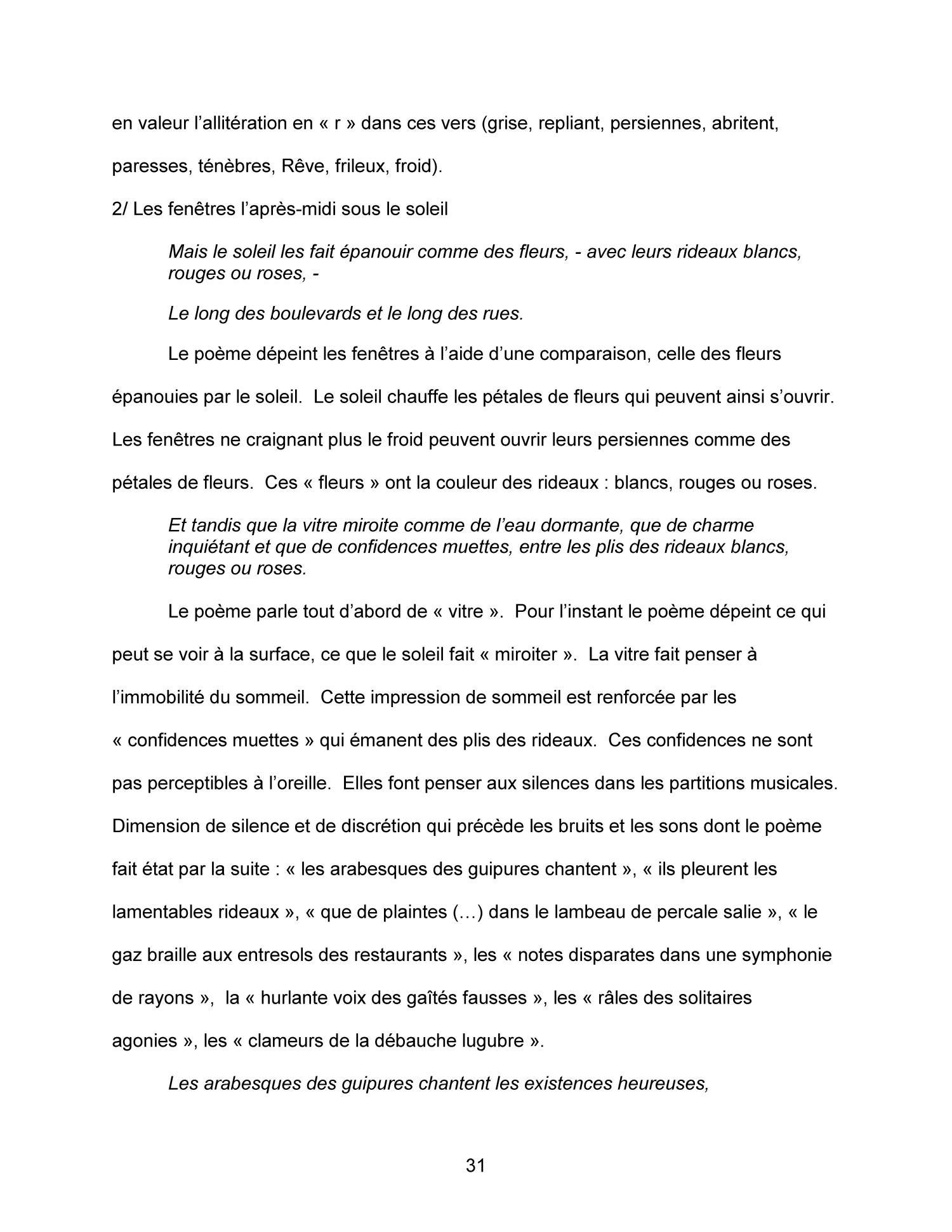 Etude Comparative Et Intertextuelle Sur Le Thème Des